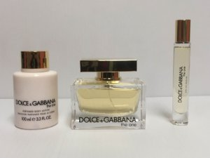 Kit The One Dolce & Gabbana Feminino EDP 75ml + Body Lotion 100ml + Miniatura 7,4ml