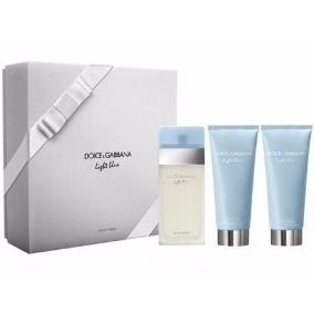 Kit Light Blue Feminino EDT 100 ml + Loção corporal 100 ml + Gel de banho 100 ml