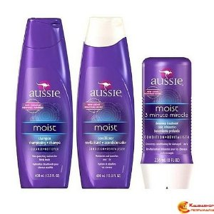 Kit Aussie Moist - Shampoo + Condicionador + 3 Minute Miracle