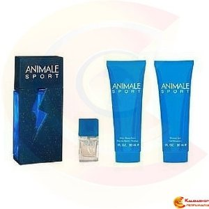 Kit Animale Sport Edt 100ml + Miniatura 7,5ml + Bálsamo Pós Barba 90ml + Gel de Banho 90ml