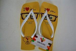 Chinelos Personalizados Bob Esponja Amarelo