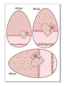Papel ovo colher  3 em 1 coração