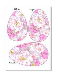 Papel ovo colher flores 3 em 1