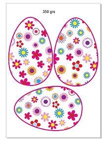 Papel ovo colher florido 350 grs