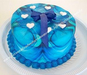 Kit Papel Arroz azul envelopado A4