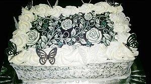 Kit floral preto+ borboletas