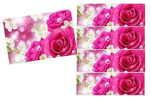 KIT FLORAL ROSA PINK+4 FAIXAS