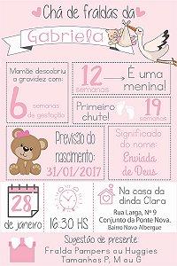 DUPLICADO - CHALKBOARD CHÁ FRALDAS A4 ROSA