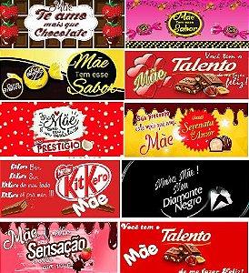 KIT FAIXA CHOCOLATES  10 FOLHAS A4