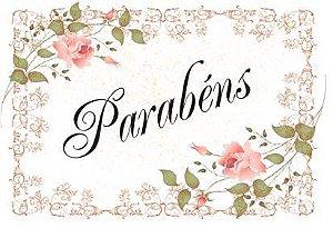 PARABÉNS  FLORAL 03