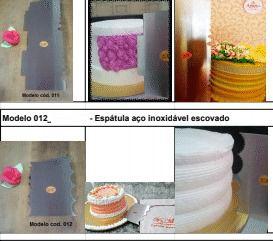 kIT 3  ESPATULAS DECORATIVAS+FRETE GRÁTIS