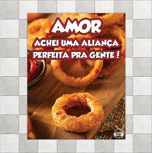 """Placa """"Aliança de casamento onion rings"""""""