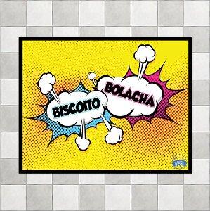 """Placa """"Biscoito Vs Bolacha"""""""