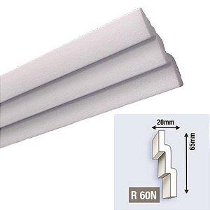 """Moldura RodaTeto de isopor modelo R60N """"Liso de fabrica"""" ( valor por metro )"""
