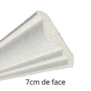 Moldura RodaTeto de isopor modelo P01 - 70mm de face ( valor por metro)