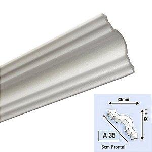 """Moldura RodaTeto de isopor modelo A35 """"Liso de fabrica"""" 50mm de face ( valor por metro )"""