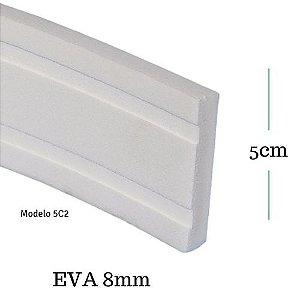 Moldura de EVA  5cm x 0,8cm ( valor por metro)