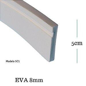 Moldura de EVA 5cm x  0.8cm ( valor por metro)