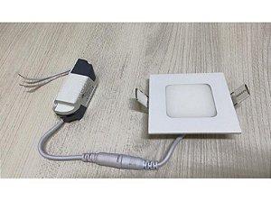 Painel Plafon Luminária Embutir Quadrado Led Slim 3w spot
