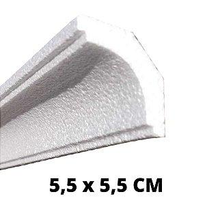Moldura RodaTeto de isopor modelo 09 - 70mm de face ( valor por metro)