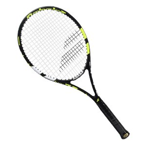 Raquete de Tenis Babolat Evoke 102 Strung 270g Preto Amarela