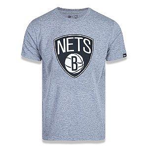 Camiseta New Era Brooklyn Nets Basic Logo NBA Cinza