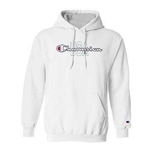 Moletom Champion Felpado c/ Capuz USA Script Logo Branco