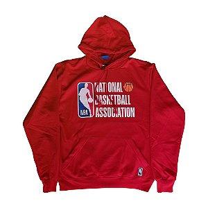 Moletom Canguru NBA Logo Fechado Vermelho