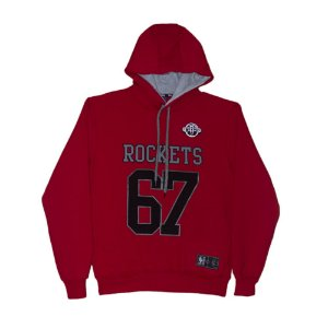 Moletom Canguru Houston Rockets NBA Logo Fechado Vermelho