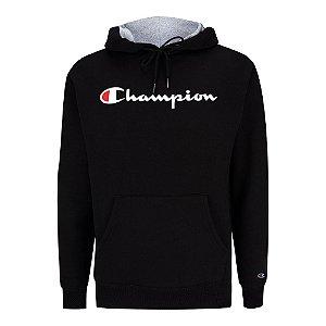 Moletom Champion Felpado c/ Capuz Script Logo Preto