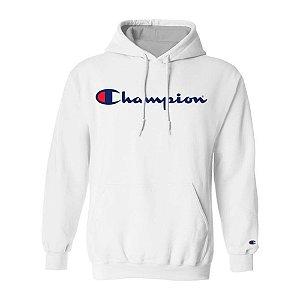 Moletom Champion Felpado c/ Capuz Script Logo Branco