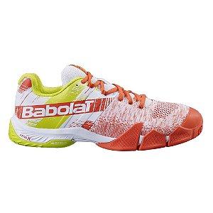 Tenis de Padel Babolat Movea Masculino Amarelo e Laranja
