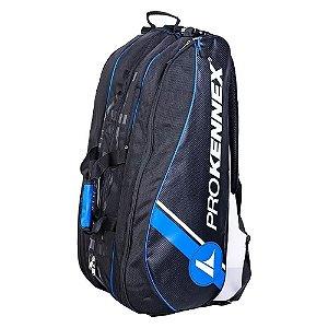 Raqueteira de Tenis Pro Kennex Tripla Preto e Azul