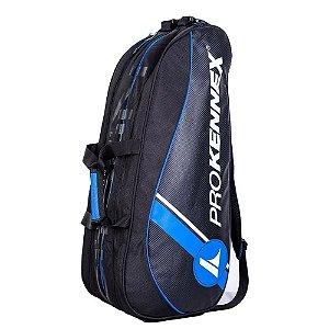 Raqueteira de Tenis Pro Kennex Dupla Preto e Azul