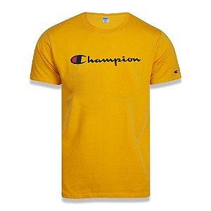 Camiseta Manga Curta Champion Malhão Script Patch Amarelo