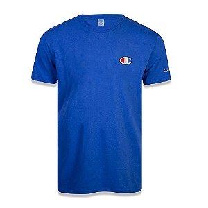 Camiseta Manga Curta Champion Malhão C Patch Felt Azul