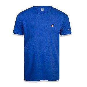 Camiseta Manga Curta Champion Malhão C Bordado Color Azul