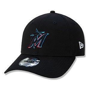 Boné New Era Miami Marlins 940 Team Color MLB Aba Curva
