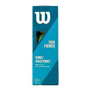 Tubo de Bola de Beach Tennis Wilson Tour Premier 3 Unidades