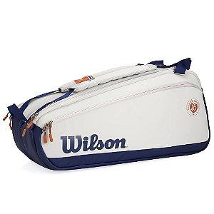 Raqueteira de Tenis Wilson Roland Garros 9pk Premium Cinza