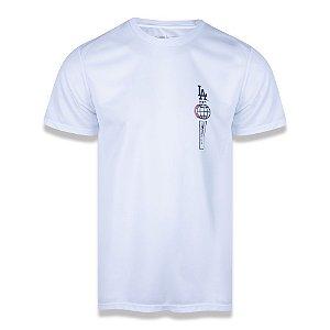 Camiseta New Era Los Angeles Dodgers MLB Tech Vertical Branco