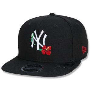 Boné New Era New York Yankees 950 Hawaii Vibes Flower Preto