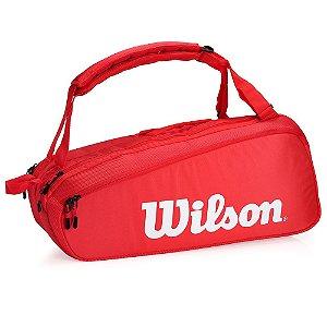 Raqueteira de Tênis Wilson Especial Super Tour 6 PK Vermelho