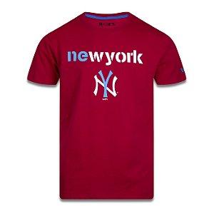 Camiseta New Era New York Yankees MLB Have Fun Vermelho