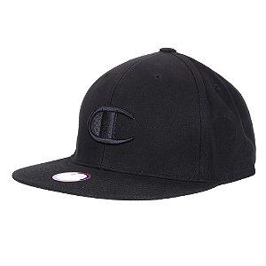 Boné Champion Snapback BB Big C Hat Aba Reta Preto