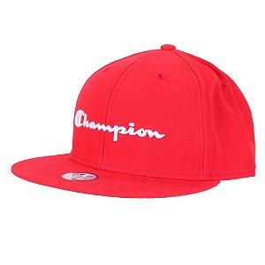 Boné Champion Snapback BB Hat Aba Reta Vermelho