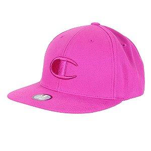 Boné Champion Snapback BB Big C Hat Aba Reta Rosa