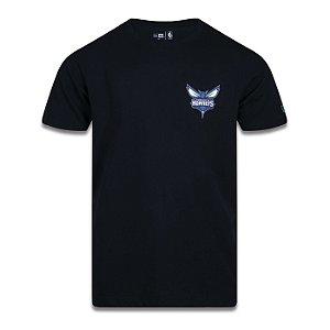 Camiseta New Era Charlotte Hornets NBA Core Classic Preto