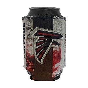 Porta Latinhas Neoprene Atlanta Falcons NFL Vermelho
