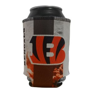 Porta Latinhas Neoprene Cincinnati Bengals NFL Laranja